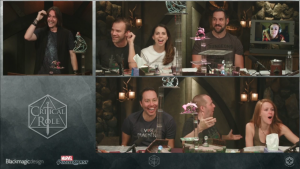 A screenshot of the final episode of Critical Role, campaign 1
