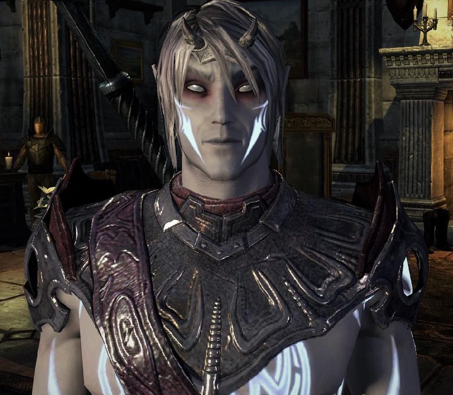 Image of Valkyrion, created in Elder Scrolls Online (as a dark elf).